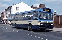 OWO234Y Blue Bus,Bolton Maynes,Manchester Merthyr Tydfil CT