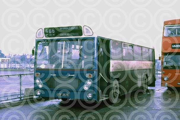 OTF357K Blue Bus,Rugeley Hyndburn DC Accrington CT