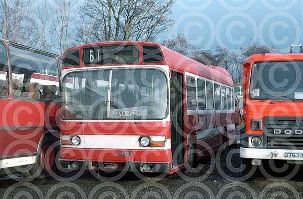 BYW362V Bullocks,Cheadle London Buses London Transport