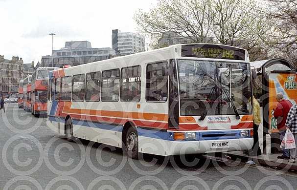 P874MNE Stagecoach Manchester